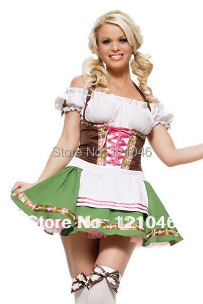 Sexy Women Oktoberfest Costumebeer wench beer girl freeshipping Carnival Costume S M L XL-in Holidays Costumes from Novelty u0026 Special Use on Aliexpress.com ...  sc 1 st  AliExpress.com & Sexy Women Oktoberfest Costumebeer wench beer girl freeshipping ...