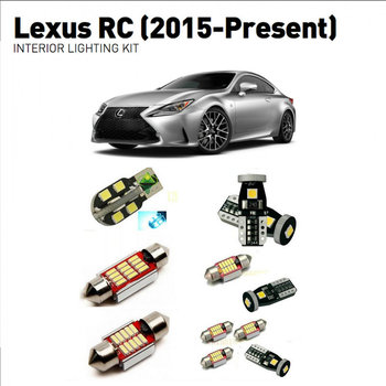 Led interior lights For Lexus rc 2015+  18pc Led Lights For Cars lighting kit automotive bulbs Canbus