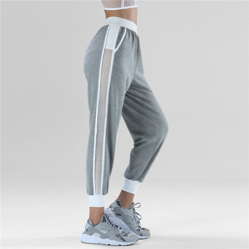 Ankle Banded Yoga Pants Women Mesh Jogger Haren Pants Sweatpants Sportswear Trousers Run ...