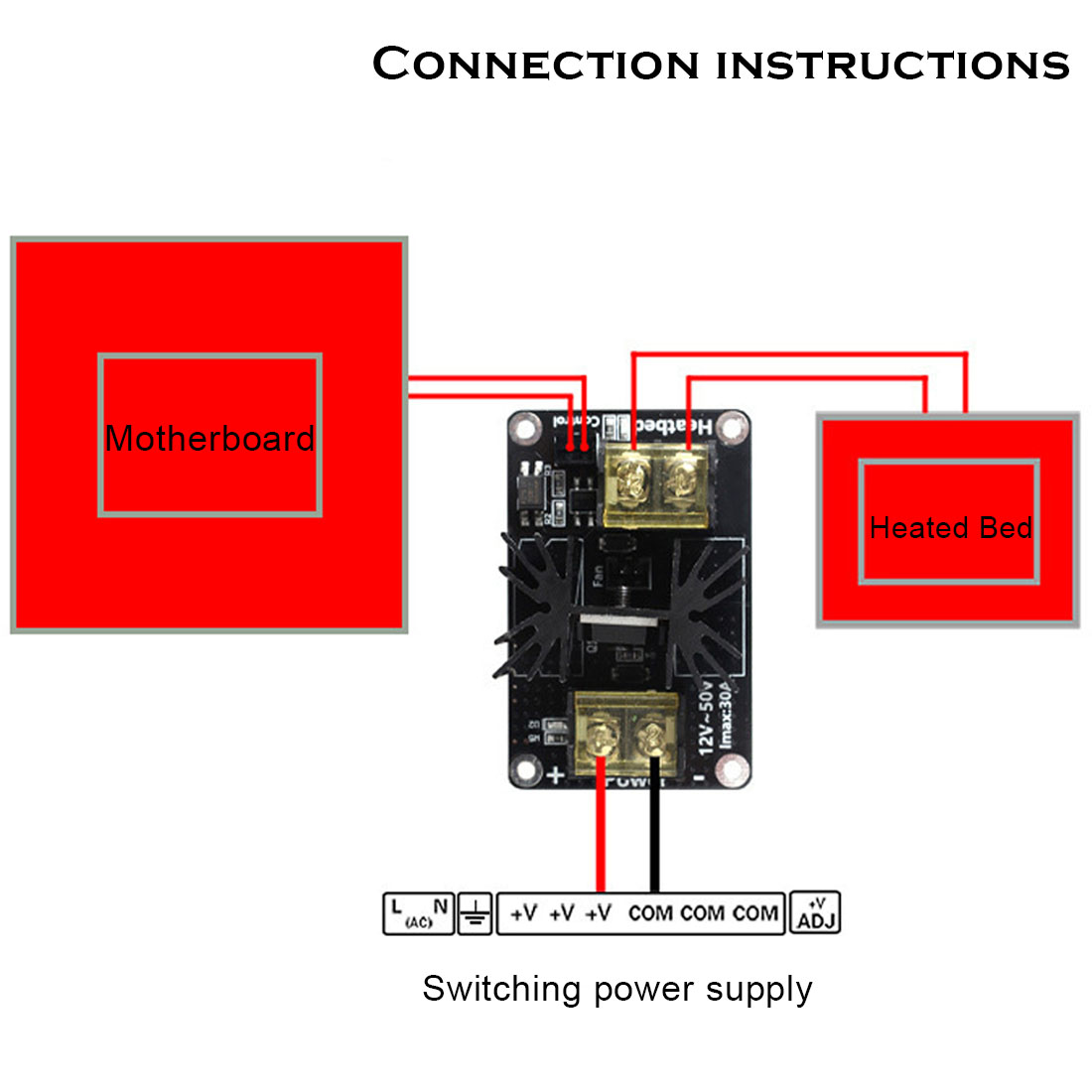 3d printer add on mosfet heated bed upgrade module vga pinout diagram mos fet wiring diagram for 3d printer #28