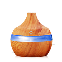 KBAYBO Electric Aroma Diffuser Wood Ultrasonic Humidifier 300ml USB Essential Oil Aromatherapy Air Diffuser LED Lights