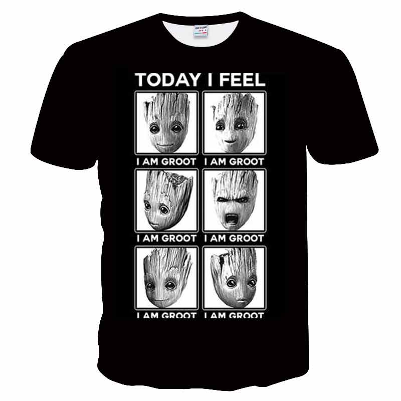 2018 new t shirt men funny Elf printed 3D T Shirt Men Shirts Male Printed t Anime T-Shirts hip hop groot tops tee European size