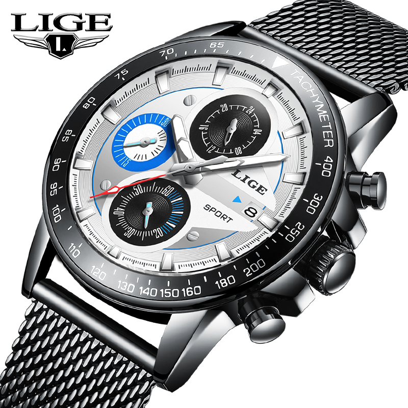 LIGE Mens Watches Brand Luxury Mens Waterproof Ultra Thin Date Wrist Watch Mens Chronograph Casual Quartz Clock Relogio MasculinLIGE Mens Watches Brand Luxury Mens Waterproof Ultra Thin Date Wrist Watch Mens Chronograph Casual Quartz Clock Relogio Masculin