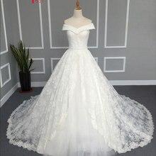 Jark Tozr Floor Length V-neck A-line Wedding Dresses 2019