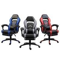 Silla giratoria de elevación de altura ajustable Samincom silla ergonómica de alto respaldo grande para juegos silla de oficina roja-negra