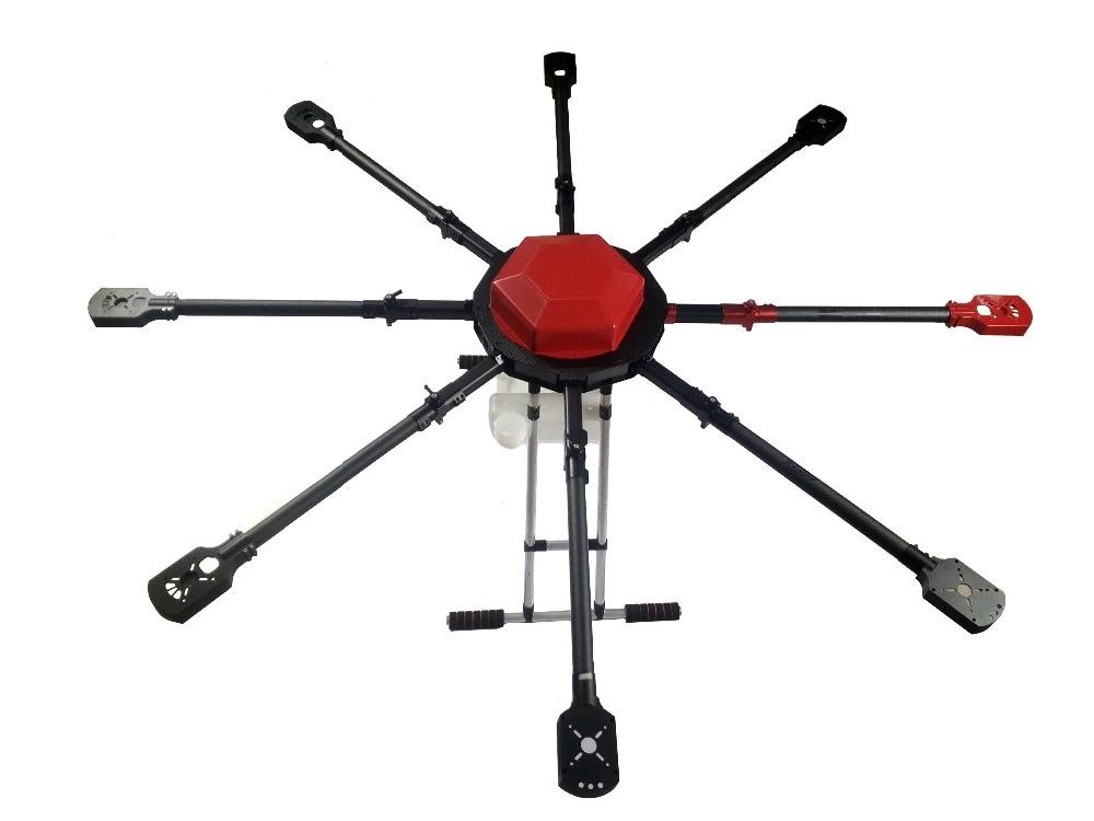 Aerops AP8-10H 10L 10 KG 8 axes aéronef sans pilote (UAV) agricole Drone cadre avec réservoir bras pliants moteur montage Match avec Q9XL M10 Xrotor 100A