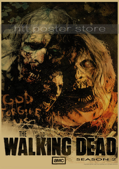 The Walking Dead Paper Poster