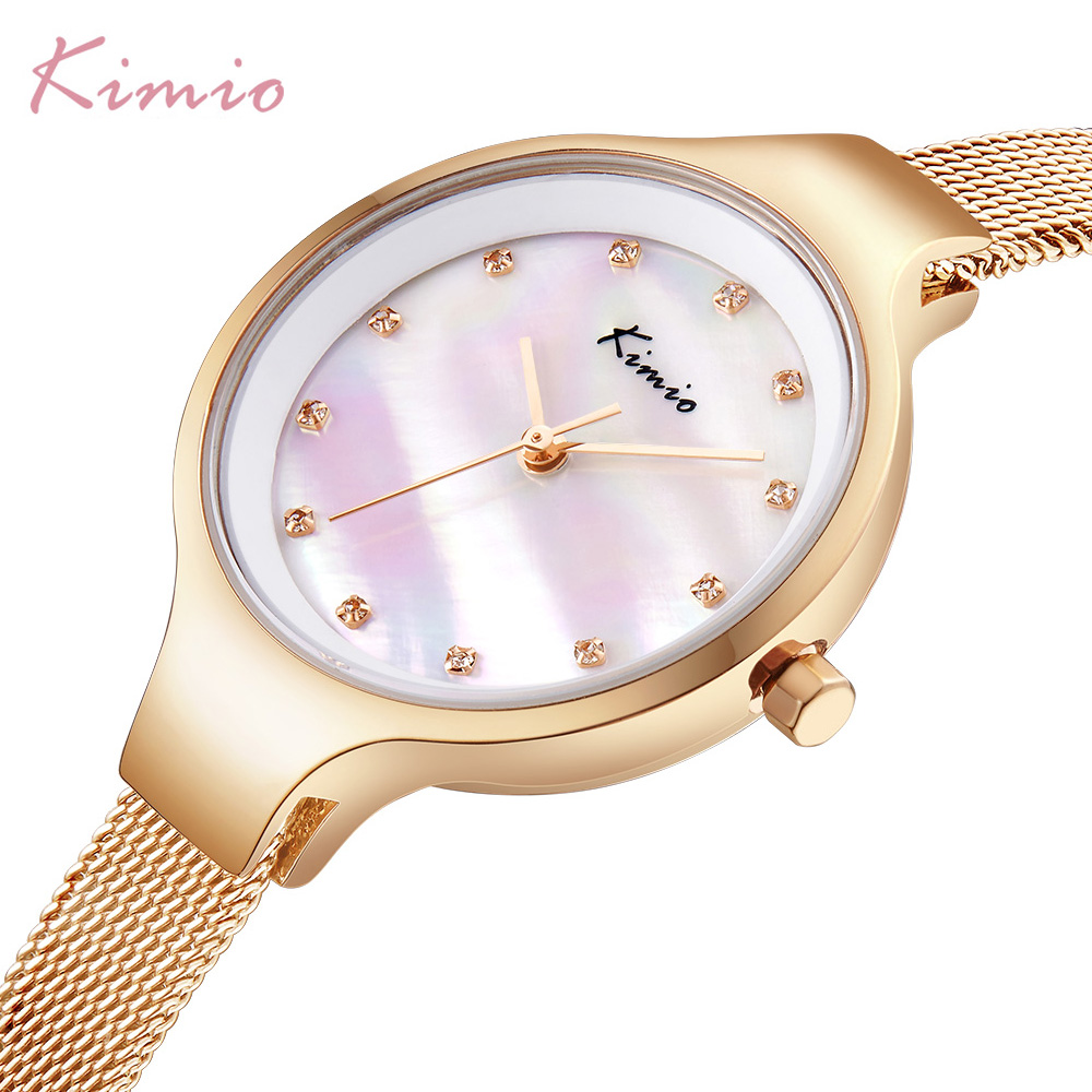 KIMIO New Fashion Relojes mujer Wristwatch Diamond Bracelet Quartz Woman Ladies Watch steel Clock Female Dress Relogio Feminino kimio new fashion leather strap women quartz casual bracelet watch clock female ladies girl dress wristwatch relogio and box
