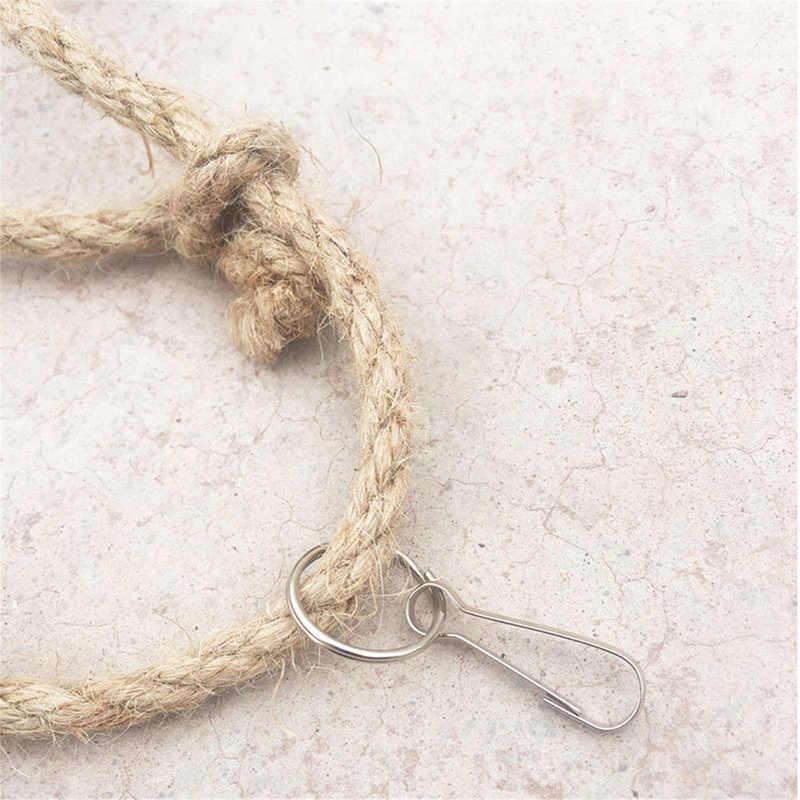 Пеньковая веревка чистая веревочная лестница игрушки для домашних животных Попугаи игрушки для домашних животных шнуры для альпинизма с Игрушки для птиц продукты 40x40 см/60x60 см