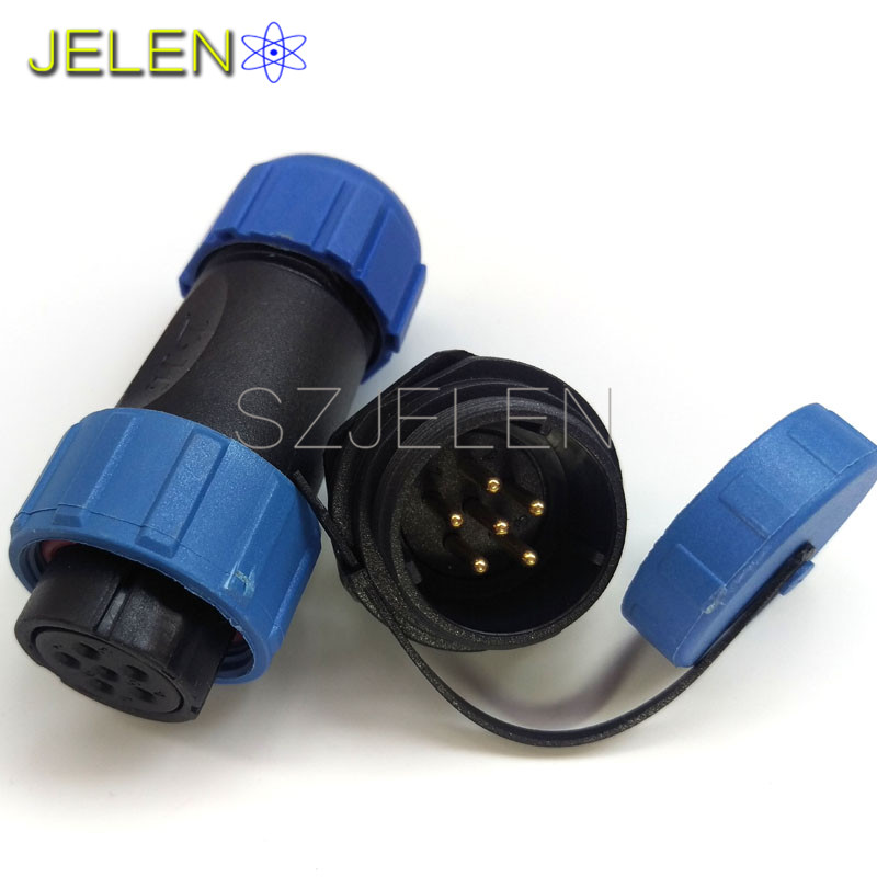 SP2110/S-SY2112/P, Electric Power waterproof connector 6 pin plug socket, dust cover, 6 pin power cable connector, IP68 бампер задний ваз 2112 купить в киеве