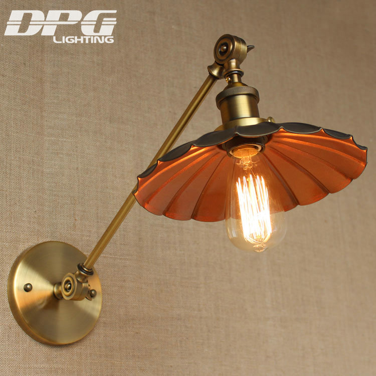 Vintage Industrial Country Wall Led Lamp Loft Antique Mounted Swing Long Arm light American Classic Sconce for Home Retro Indoor nordic american retro elegant atmosphere l25cm arm double two swing arm decorative wall sconce vintage black lotus leaf lid lamp