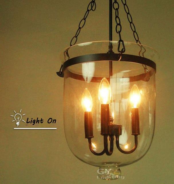 Modern 3pcs E14 Candle Ceiling Lamp Pendant Light Fixture clear ...