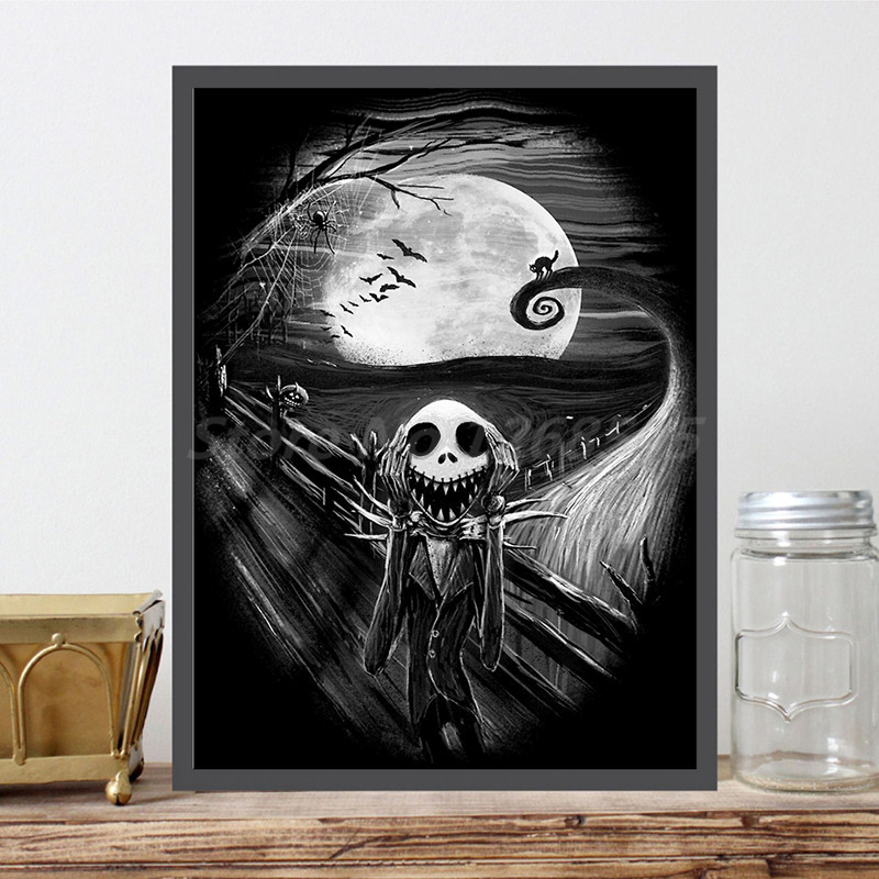The Nightmare Before Christmas HD Wall Art Canvas Poster And Print Canvas Painting Decorative Picture For Living Room Home Decor