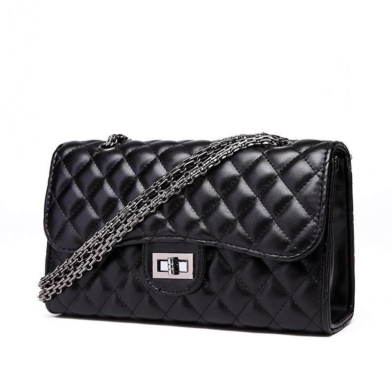 Classic Fashion Quilted Bag Stylish Chain Bag Trendy Diamond Lattice Women Shoulder Bag Ladies Luxury Ladylike