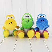 10Pcs/Lot 17cm New Arrival Super Mario Yoshi Plush Dolls 3 Colors Soft Stuffed Toy Kid Christmas Plush Dolls Free Shipping