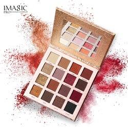 IMAGIC Новое поступление очаровательные тени для век 16 цветов Палетка для макияжа Палитра матовый мерцающий пигментированный тени для век пор...