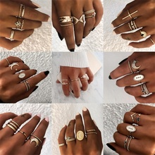 Vienkim 20 Styles Gold Color Knuckle Rings Set for Women Vin