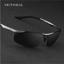 Veithdia Polarizadas gafas de Sol de Los Hombres Diseñador de la Marca de Conducción De Aluminio Y Magnesio gafas de Sol Para hombres Gafas Accesorios V27