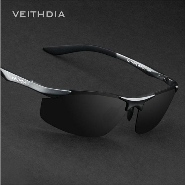 Homens da marca do desenhador polarizados veithdia óculos de sol de alumínio e magnésio óculos de sol dos homens óculos de condução óculos acessórios 6529
