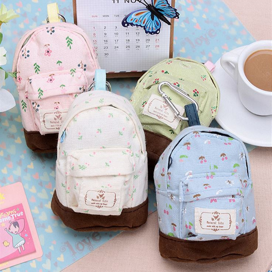 Idyllic Small Floral Ultra Mini Small Bags Incidental Hasp Lovely Fashion Coin Purse Wallets Office School Pencil Bag hot small fresh forest female wind pastoral floral mini small school bag cute school bags coin purse student coin purse