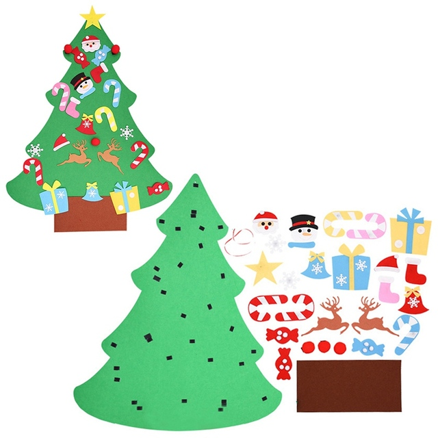 Artificial Christmas Tree Stand.Us 7 12 Diy Felt Christmas Tree Kids Artificial Tree Ornaments Christmas Tree Stand Decorations Gifts New Year Xmas Decoration In Trees From Home