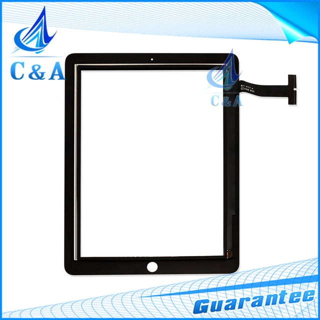 Black replacement parts for ipad 1 1st lcd touch screen digitizer glass front panel 1 piece free shipping
