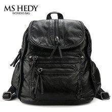 MS HEDY искусственная кожа рюкзак женщины сумку пакеты рюкзак Женский школьная сумка для девочек дизайнерские элегантный дизайн новые дизайнерские путешествия кошельки  рюкзаки