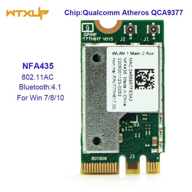 NFA435 NGFF Wireless AC wifi ADAPTER for QUALCOMM Atheros QCA9377