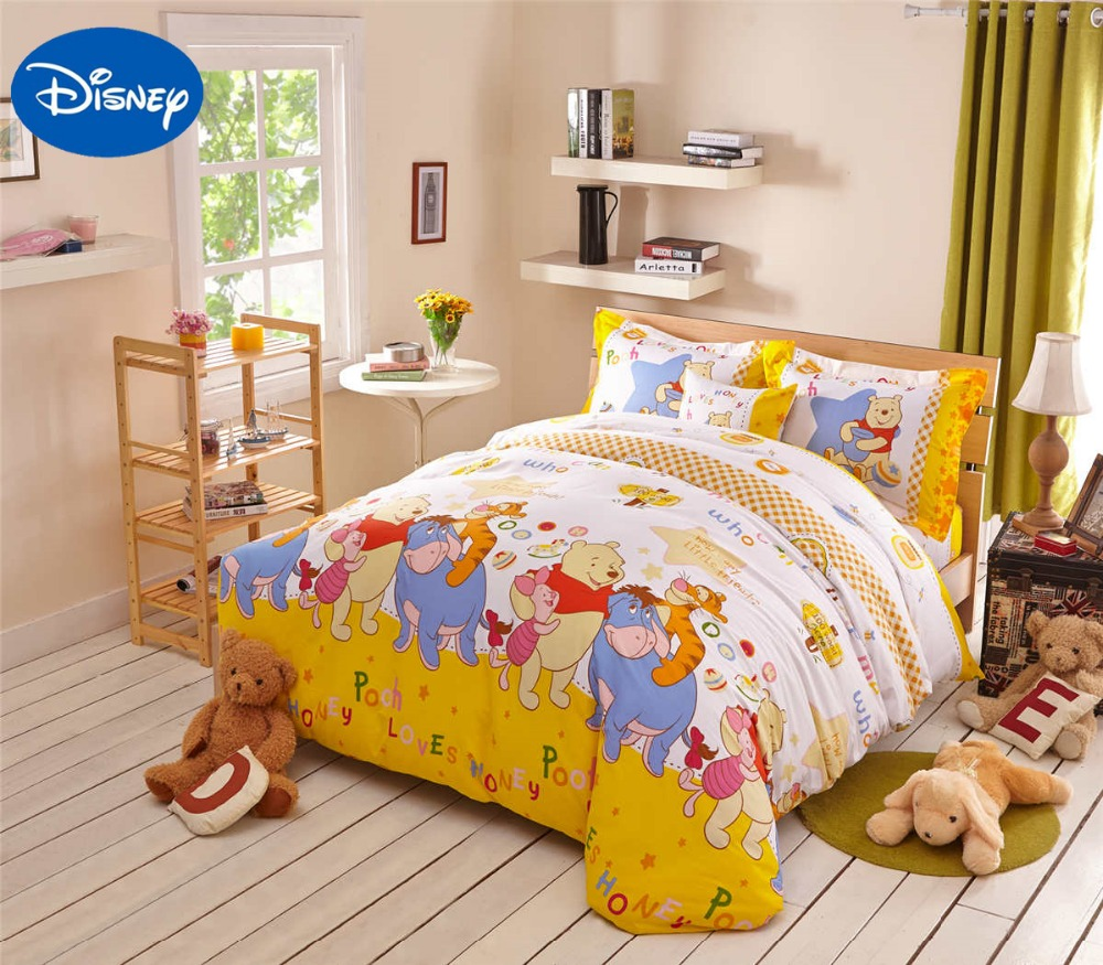 Winnie the pooh toddler bedding - Winnie The Pooh Tigger Piglet Comforter Bedding Sets Singletwin Full Queen Bed Covers Disney Cartoon 100