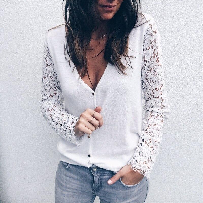 Womens Boho Beach Lace Tops and Blouses Elegant Ladies hollow out Long Sleeve Shirt Autumn Dames Blouse grace blusa feminina