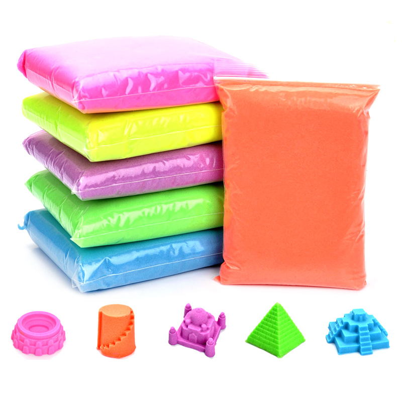 100g bag Magic Sand Dynamic Sand Indoor Playing For Children Modeling Clay Slime Play Learning Educational