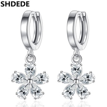 SHDEDE Luxury Cubic Zirconia Earrings Wedding Fashion Jewelry Womens Accessories Drop High Quality Gift  *+WHE141 shdede cubic zirconia elegant charm bracelets for women bride wedding fashion jewelry heart valentine s day gift whe262