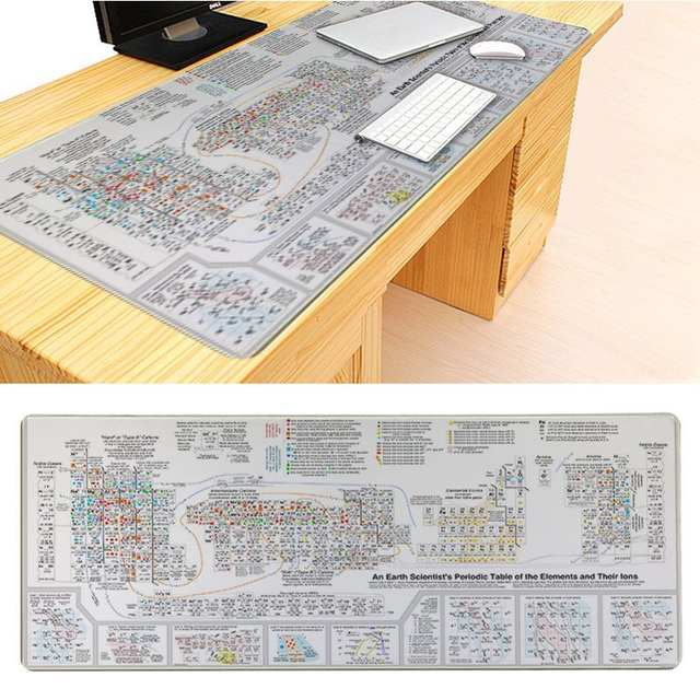MaiYaCa New Printed Periodic Table of Elements Silicone Pad to Mouse Game  Size for 300*900*2mm and 400*900*2mm Game Mousepad