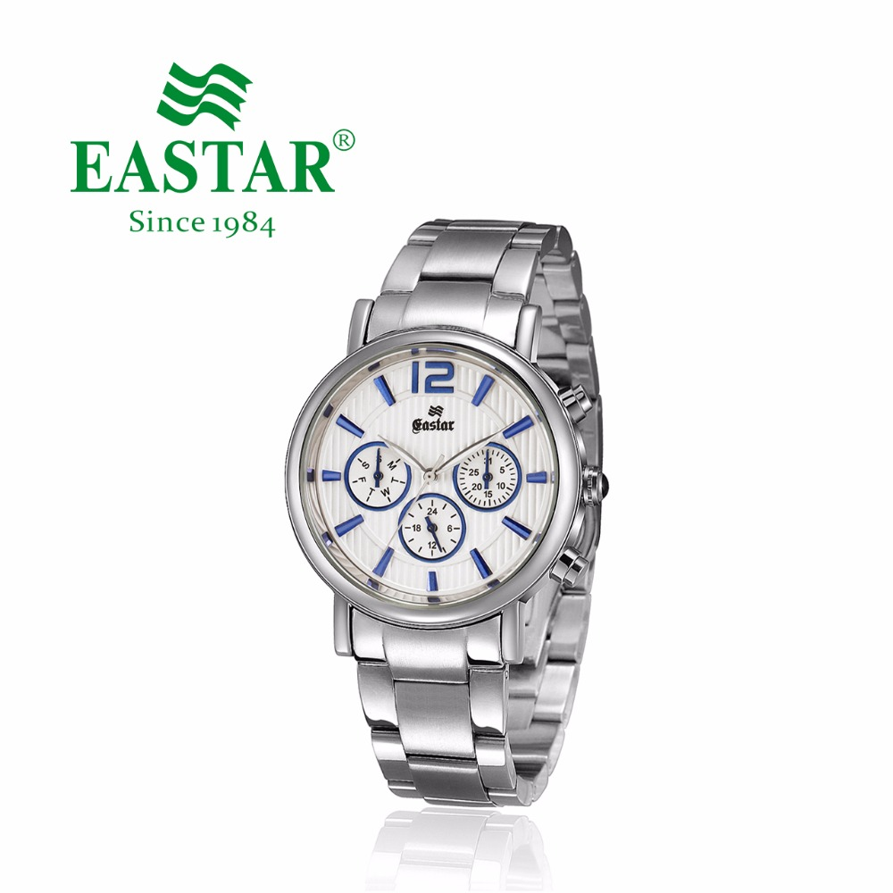 Eastar Luxury Full Stainless Steel Watch Analog Quartz Wristwatch Multifunction Casual Waterproof Quartz Watches Male ClockEastar Luxury Full Stainless Steel Watch Analog Quartz Wristwatch Multifunction Casual Waterproof Quartz Watches Male Clock