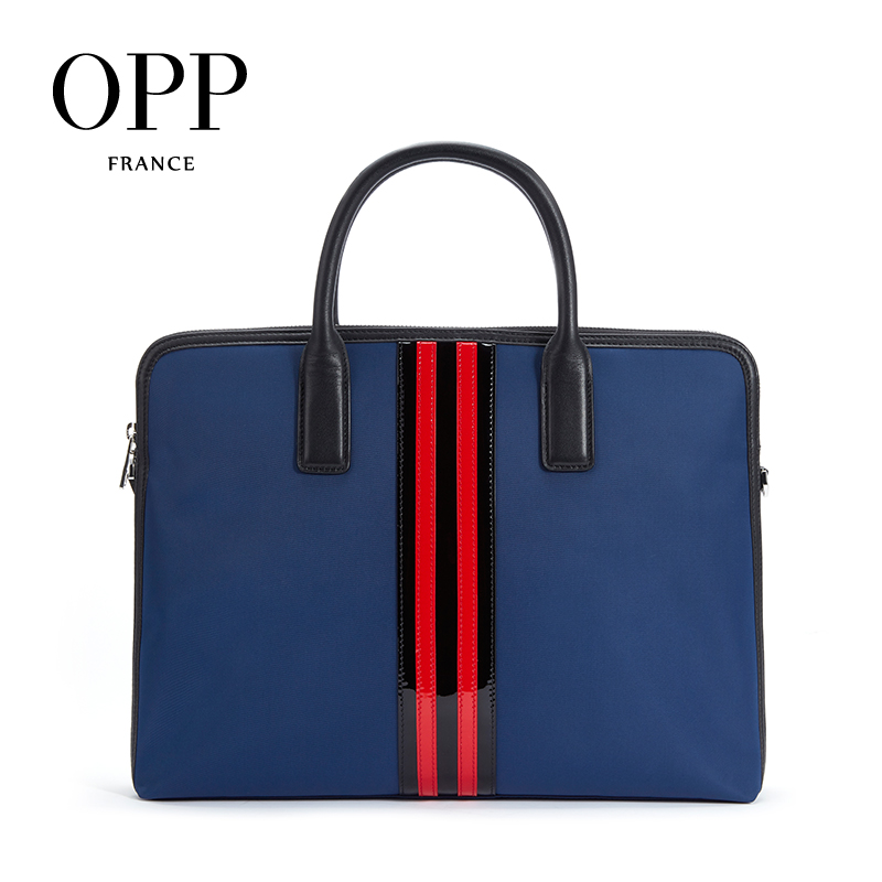 OPP 2020 Men's Bag Leather Business Briefcase Multifunction Fashion Zipper Casual Handbag Shoulder Bags