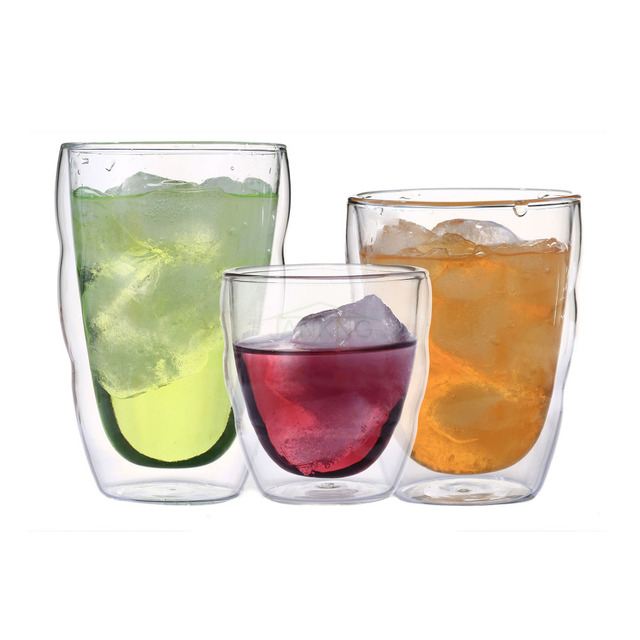 80/250/350ml Double Wall Glass Cup Clear Resistant Handmade Green Black Tea Cup Coffee Milk Juice Healthy Drink Mugs Cup