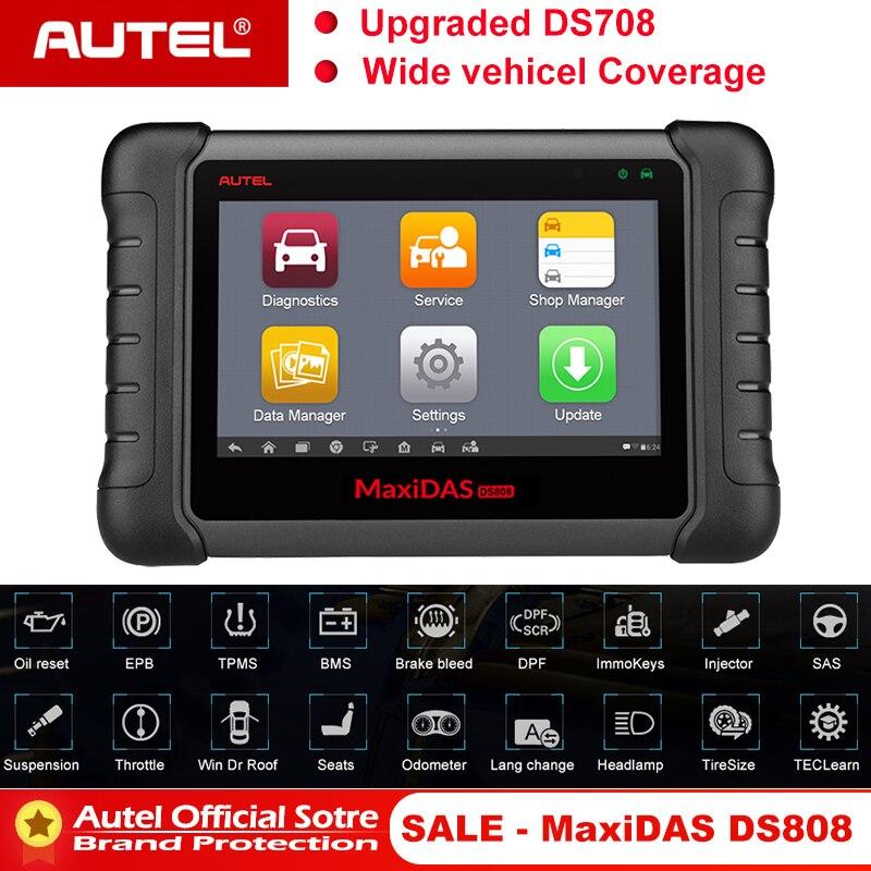 Autel MAXIDAS DS808 OBD2 2 Car Auto Scanner Ferramenta de Diagnóstico Scanner OBDII OBD TPMS MS906 Maxisys Programador Chave de Programação