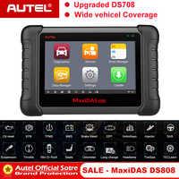 Autel MAXIDAS DS808 OBD2 Scanner OBDII OBD 2 Car Auto Diagnostic Scanner  Tool TPMS Programming Key Programmer Maxisys MS906