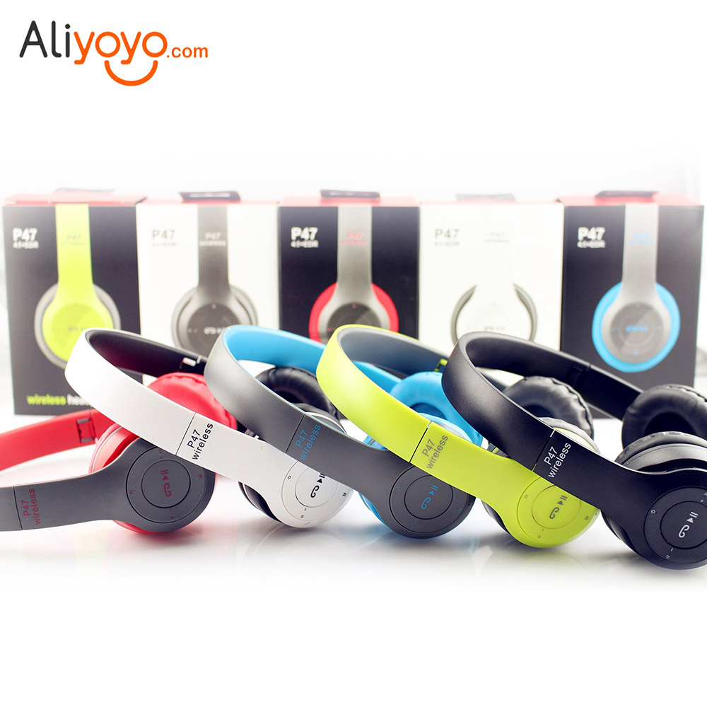 Wireless Headphones Sport Microphone Headset Headphone Earphone Microphone Stereo Bluetooth 4.1 Audio Mp3 For iPhone xiaomi P47 nameblue st 11 sport bluetooth v4 0 wireless stereo headset headphone w microphone white