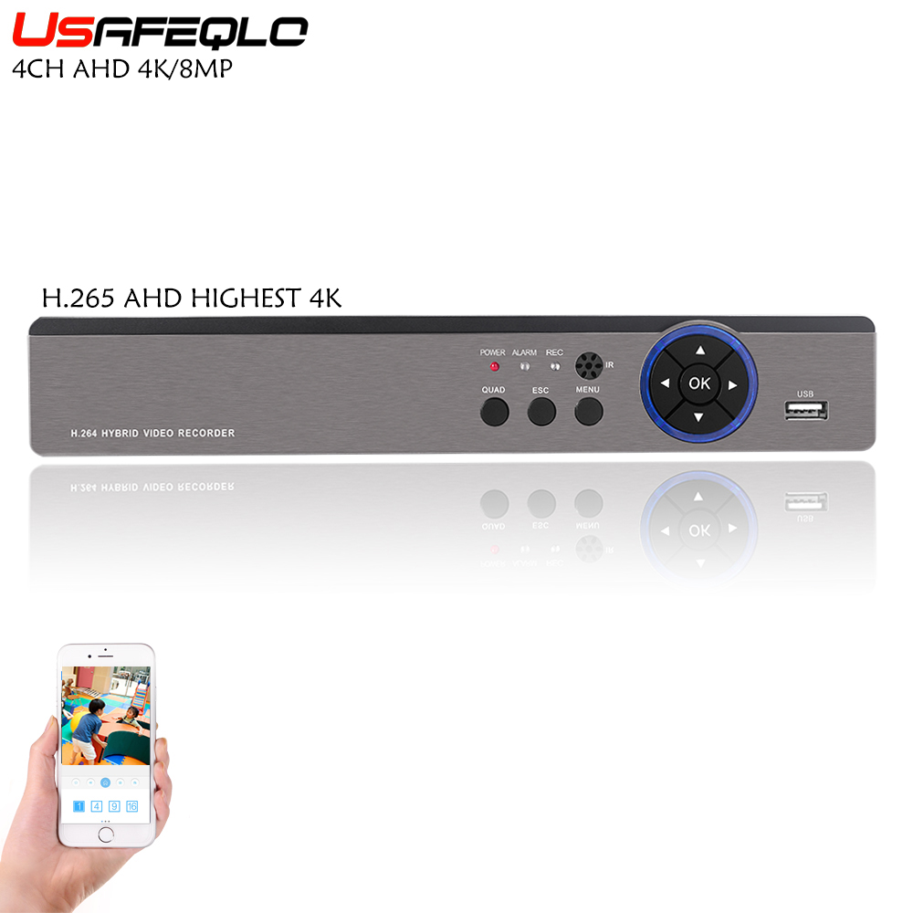 4CH AHD Video Recorder H 265 4K 5MP Hi3521A 4 Channel 5 in 1 Hybrid DVR