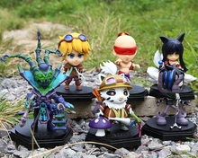 New game pvc L size Q action figure Ahri Amumu Thresh Lee Sin Ezreal Teemo model toy  collection brinquedos  juguetes hot