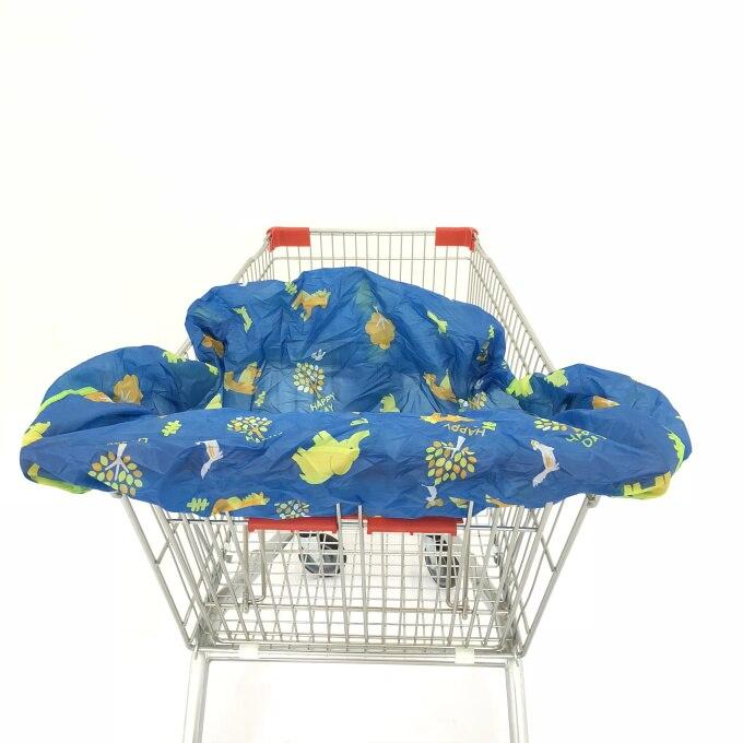 Младенческий супермаркет корзина для покупок, чехол для детского сиденья, анти-грязный чехол, детское сиденье для путешествий, подушка, не грязный, портативный - Цвет: Animals Yard