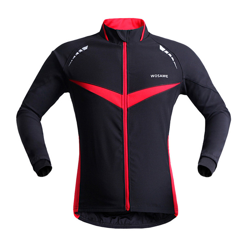 WOSAWE Men Winter Thermal Fleece Clothing Bicycle Jersey Sports Long Sleeve Coat Long Sleeve Cycling Jersey Wear Cycling Jacket men fleece thermal autumn winter windproof cycling jacket bike bicycle casual coat clothing warm long sleeve cycling jersey set