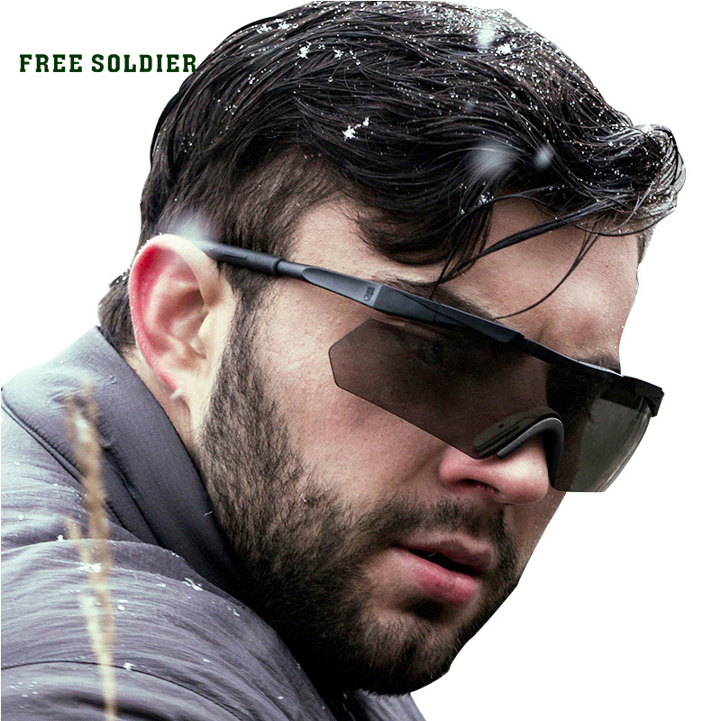 FREE SOLDIER Eagle-eye tactical goggles Men sunglasses for riding and bullet protection okulary wojskowe