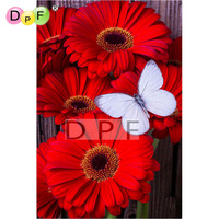 NEW 3D DIY Diamond Painting Cross Stitch Floral Butterflies Crystal Needlework Diamond Embroidery Full Mosaic Decorative