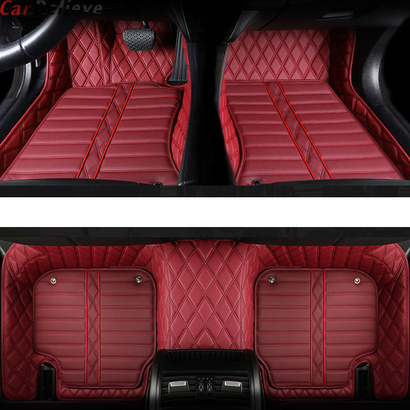 Car Believe Genuine Leather car floor mat For Land Rover freelander 2 discovery 3 evoque accessories carpet rugs