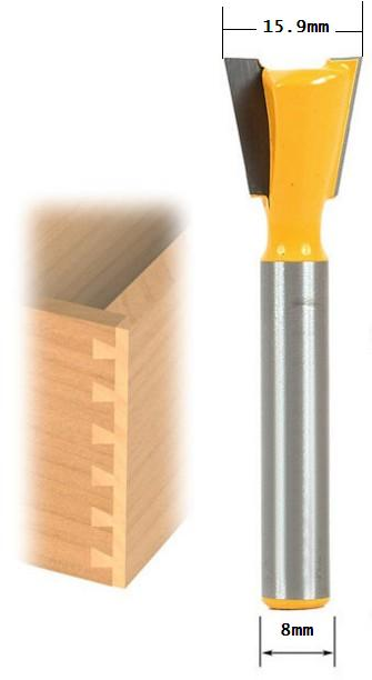 High Quality Industry Standard 8mm Shank Dovetail Router Bit Cutter Wood Working