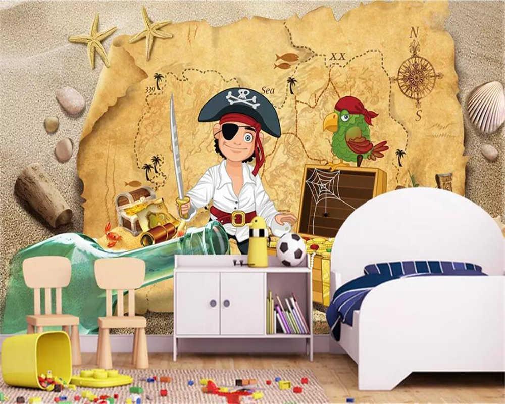Beibehang пользовательские обои 3d фото фрески хедж пират детская комната фон декоративные картины 3d обои papel де parede
