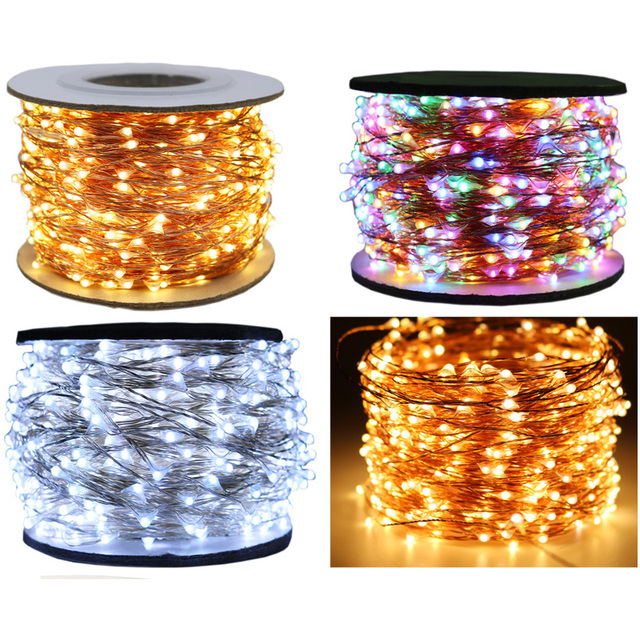 The Longest Waterproof Outdoor Home 30M 50 100M LED Fairy Street Lights Decoration Garlands Christmas Wedding New Year's Garland 5