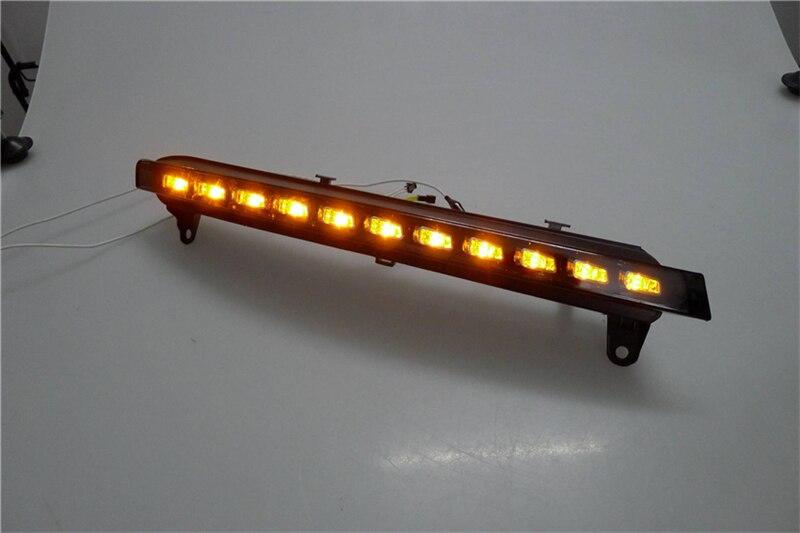 Vland фабрика для автомобиля свет для Audi для Q7 Противотуманные фары 2006 2009 светодиодный DRL Туман лампы с желтым очередь стиль сигнала